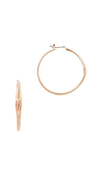 Kate Spade New York Get Connected Large Hoop Earrings - Rose Gold