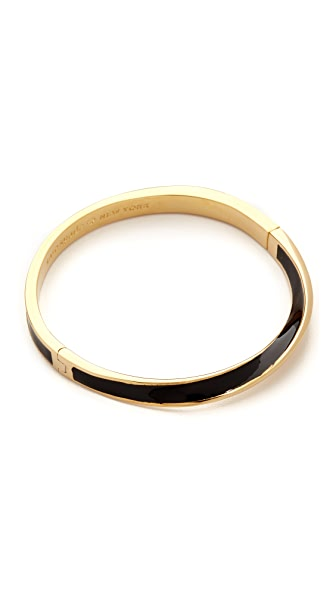 Kate Spade New York Do The Twist Hinged Bangle Bracelet - Black