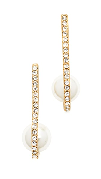 Kate Spade New York Shine On Imitation Pearl Cuff Earrings - Cream Multi