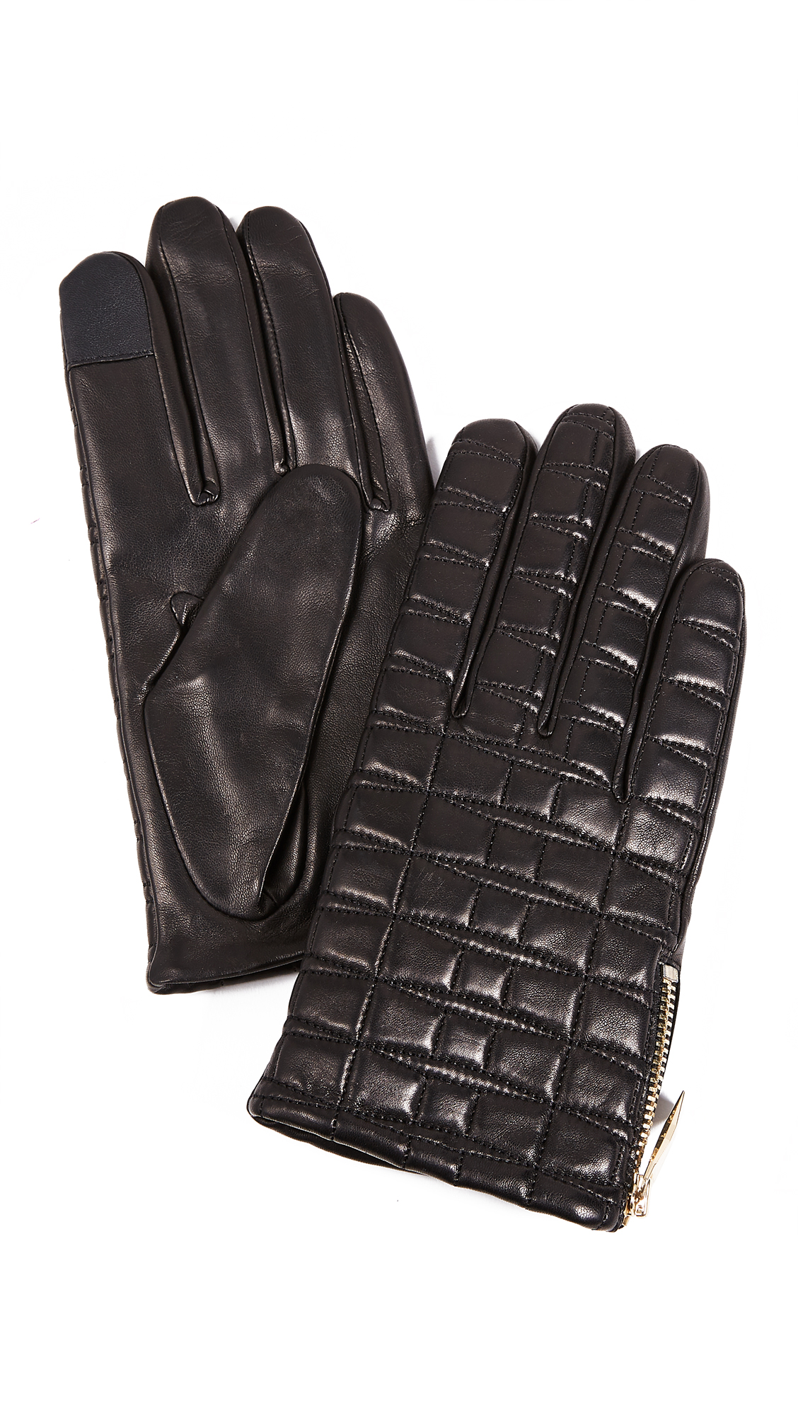 Kate Spade New York Bow Quilted Tech Gloves - Black