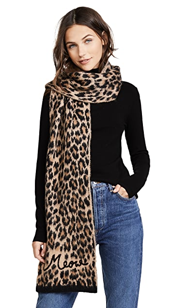 Kate Spade New York Brushed Leopard Muffler Scarf