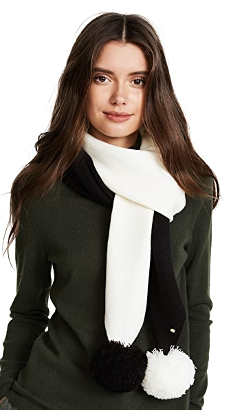 Kate Spade New York Colorblock Muffler Scarf In Cream/Black