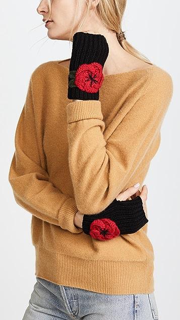 Kate Spade New York Crochet Poppy Arm Warmers