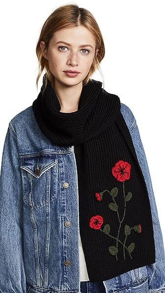 Kate Spade New York Crochet Poppy Muffler In Black