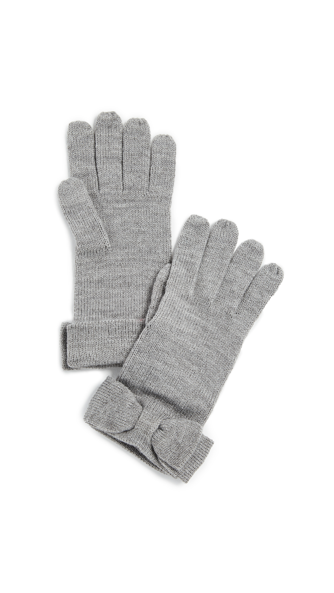Kate Spade New York Half Bow Gloves - Heather Grey
