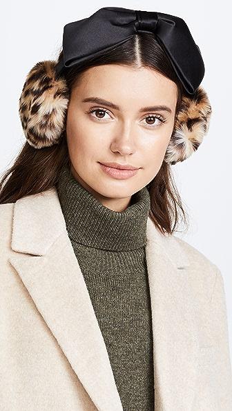 Kate Spade New York Leopard Bow Earmuffs