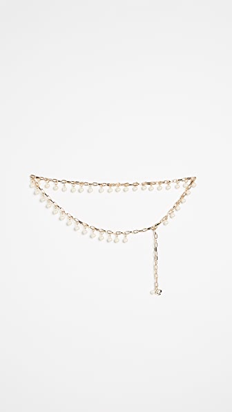 Kate Spade New York Chain Belt with Imitation Pearls