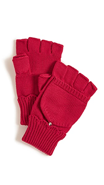 Kate Spade New York Scallop Pop Top Mittens In Charm Red