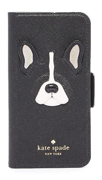 Kate Spade New York Antoine Applique Folio iPhone 7 Case - Black Multi