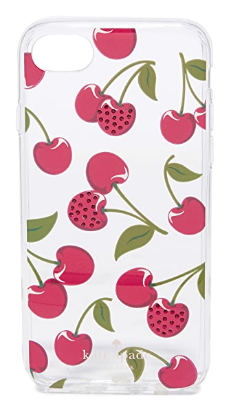 Kate Spade New York Jeweled Cherries iPhone 7 Case In Clear Multi