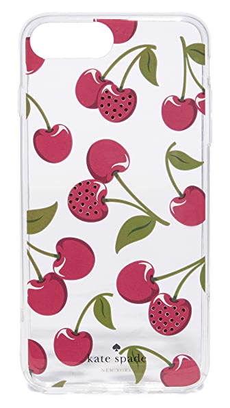 Kate Spade New York Jeweled Cherries iPhone 7 Plus Case In Clear Multi