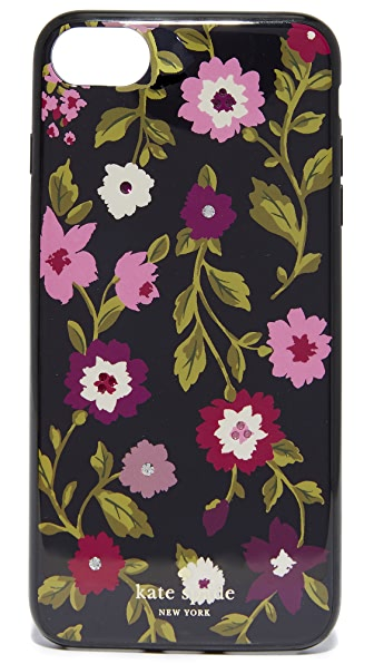 Kate Spade New York Jeweled In Bloom iPhone 7 Case - Black Multi