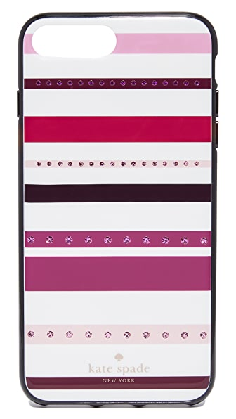 Kate Spade New York Jeweled Stripe iPhone 7 Plus Case - Pink Multi