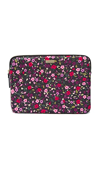 Kate Spade New York 13 inch Boho Floral Laptop Sleeve In Black Multi