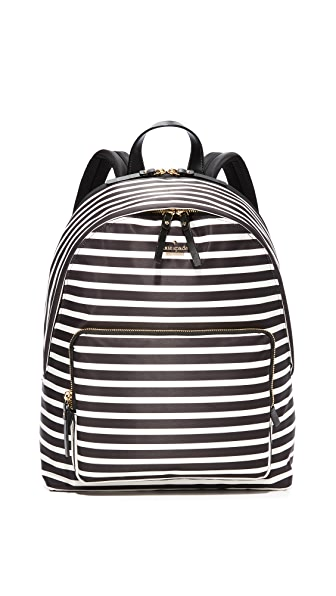 Kate Spade New York Nylon Tech Backpack - Black/Clotted Cream