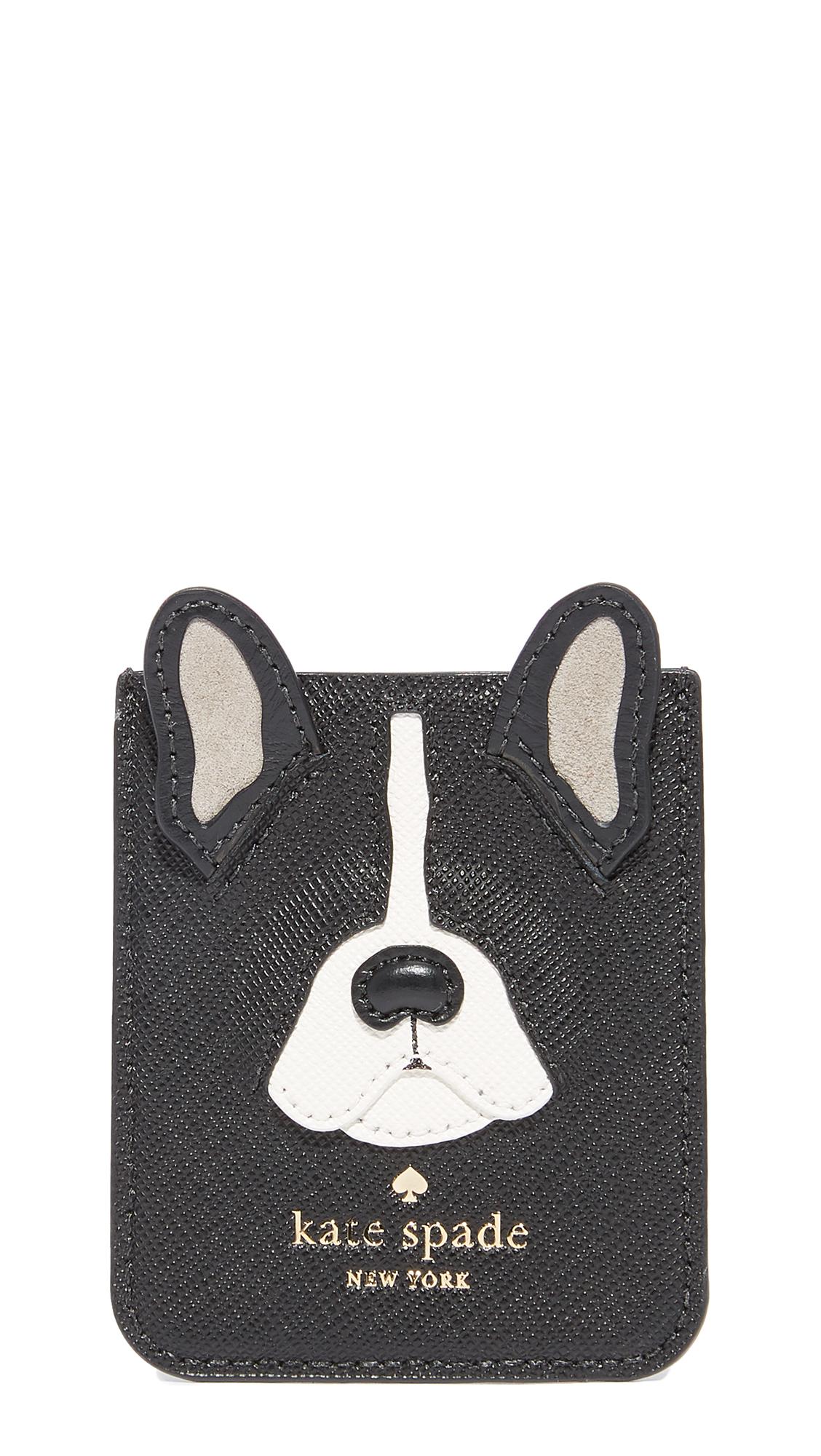 Antoine Applique Adhesive Phone Pocket in Black Multi