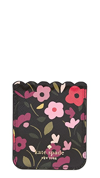 Kate Spade New York Boho Floral Adhesive Phone Pocket - Black Multi