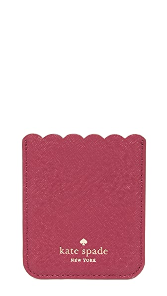 Kate Spade New York Scallop Adhesive Phone Pocket - Rosso