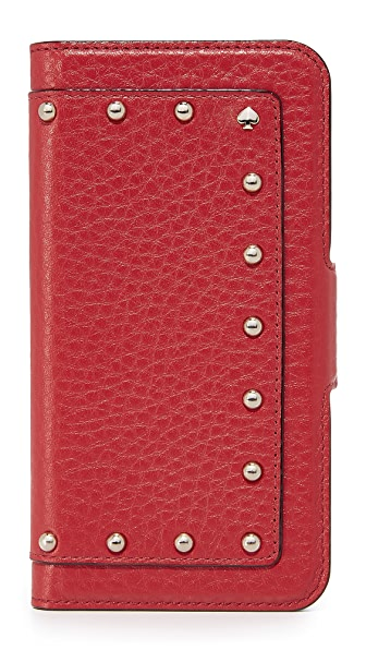 Kate Spade New York Embellished Wrap Folio iPhone 7 / 8 Case In Red Carpet