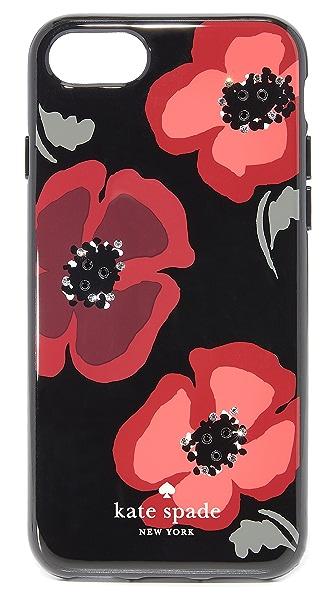 Kate Spade New York Jeweled Poppy iPhone 7 Case - Black Multi
