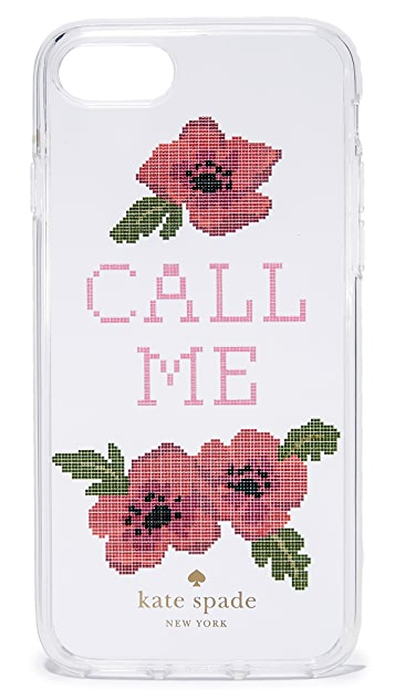 Kate Spade New York Needlepoint Call Me iPhone 7 / 8 Case