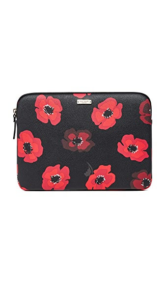 "Kate Spade New York 13"" Poppy Laptop Sleeve - Black Multi"
