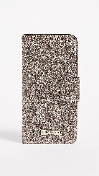 Kate Spade New York Glitter Wrap Folio iPhone 7 / 8 Case
