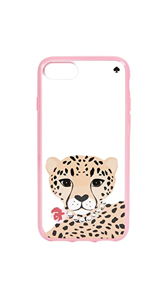 Kate Spade New York Jeweled Cheetah iPhone 7 / 8 Case In Clear Multi