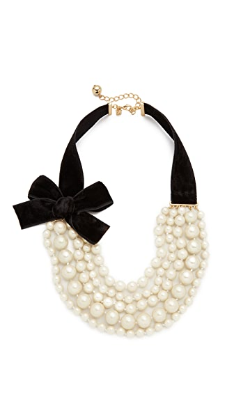 Kate Spade New York Girly Pearly Necklace - Cream Multi