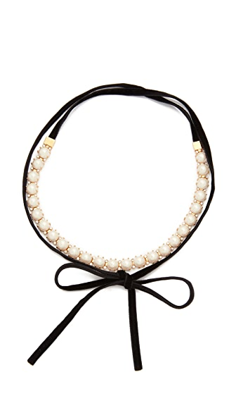 Kate Spade New York Girly Pearly Choker Necklace - Cream Multi