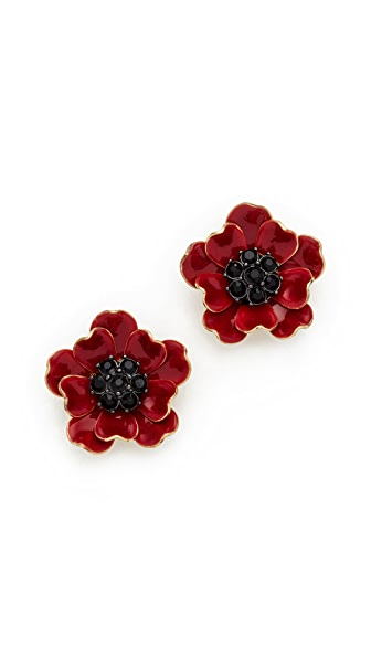 Kate Spade New York Precious Poppies Stud Earrings - Red Multi