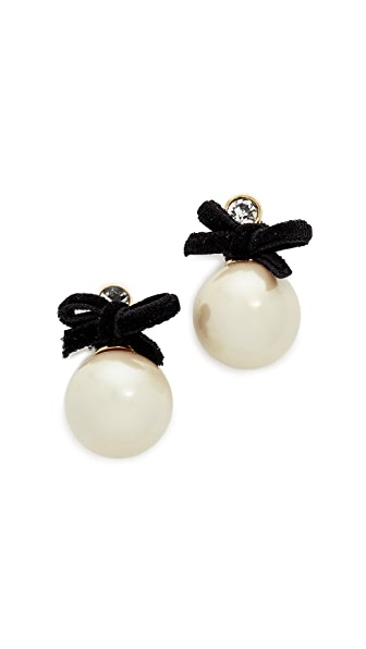 Kate Spade New York Girly Pearly Drop Stud Earrings - Cream Multi
