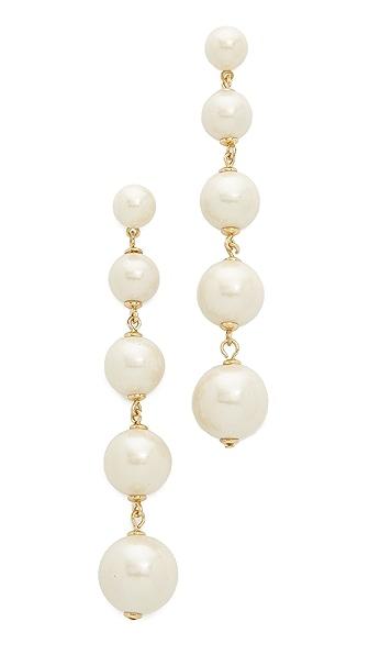 Kate Spade New York Girly Pearly Linear Earrings In Cream Multi