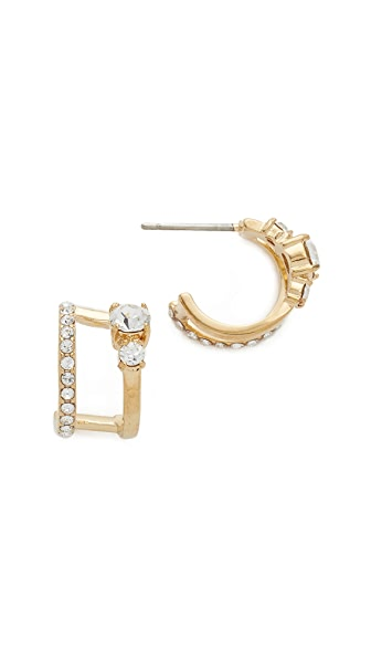 Kate Spade New York Bright Ideas Double Hoop Earrings - Clear/Gold