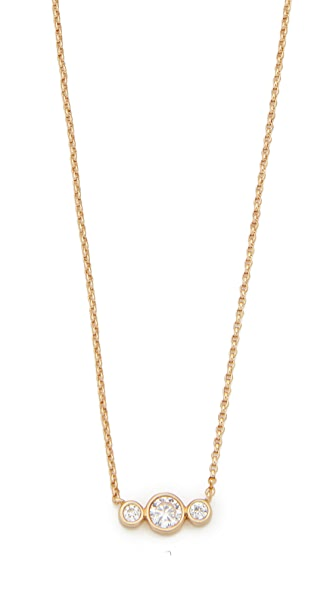 Kate Spade New York Bright Ideas Mini Pendant Necklace - Clear/Gold