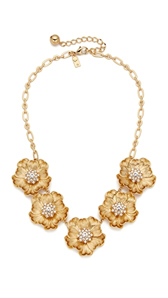 Kate Spade New York Precious Poppies Necklace - Gold