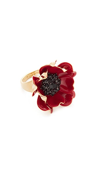 Kate Spade New York Precious Poppies Ring - Red Multi