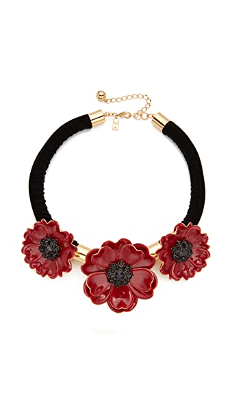 Kate Spade New York Precious Poppies Statement Necklace - Red Multi