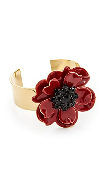 Kate Spade New York Precious Poppies Cuff - Red Multi
