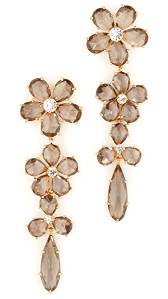 Kate Spade New York In Full Bloom Linear Earrings - Grey Multi