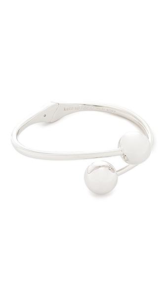 Kate Spade New York Bauble Cuff Bracelet In Silver