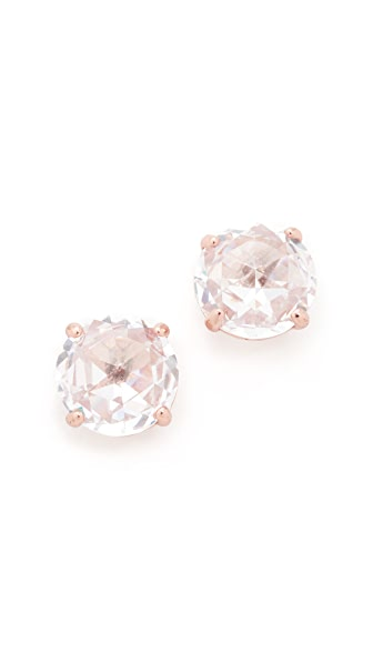 Kate Spade New York Bright Ideas Stud Earrings - Clear/Rose Gold