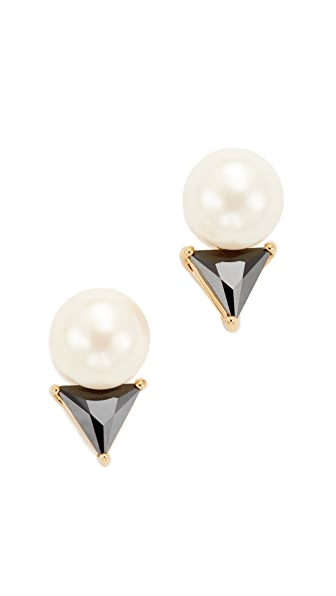 Kate Spade New York Bright Ideas Triangle Stud Earrings - Jet