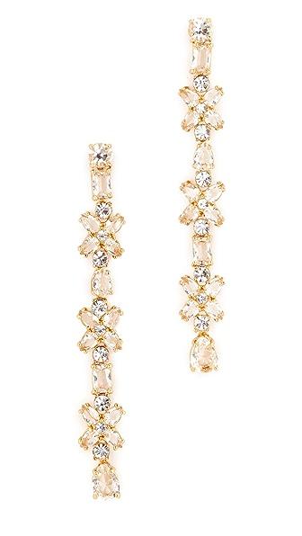 Kate Spade New York Take A Shine Linear Earrings - Clear/Gold
