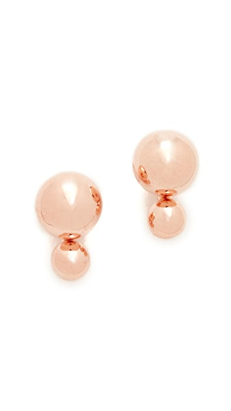 Kate Spade New York Precious Double Bauble Stud Earrings - Rose Gold