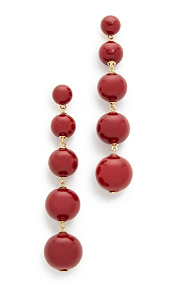 Kate Spade New York Precious Poppies Bauble Drop Earrings - Red
