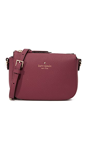 Kate Spade New York Daniels Drive Wendi Cross Body Bag - Black Cherry
