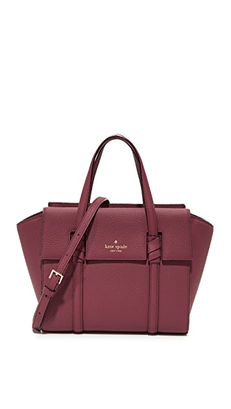 Kate Spade New York Daniels Drive Small Abigail Satchel - Black Cherry