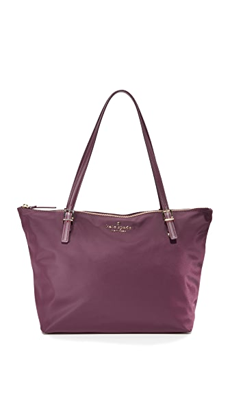Kate Spade New York Watson Lane Maya Nylon Tote In Deep Plum