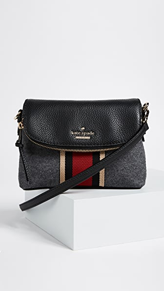 Kate Spade New York Jackson Street Small Harlyn Cross Body Bag - Charcoal